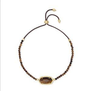 Kendra Scott Elaina Gold Beaded Bracelet Tiger Eye